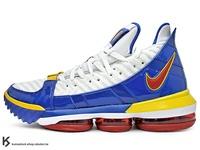 [26cm] 2018-2019 NBA 最新款 LeBRON JAMES 最新代言 NIKE LEBRON XVI SB EP 16 SUPERMAN 白藍黃紅 超人 全新 BATTLEKNIT 2.0 飛織鞋面 ZOOM MAX AIR 氣墊 小皇帝 雷霸龍 KING LAKERS 頂級科技 籃球鞋 (CD2450-100) !