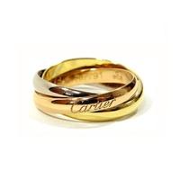 卡地亞卡地亞戒指三位一體環 S 模型環禮物要求婦女 Jos Brand Select Shop