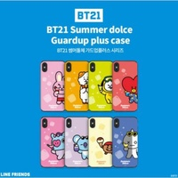Official Kpop BTS BT21 Phone Case Cover Dual Slide Summer Version For iPhone