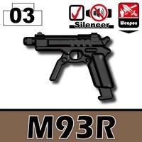 特別定做LEGO Lego特別定做零件LEGO武器家具瓦特SWAT Beretta M93R手槍世界大戰瓦特武器手槍 World antique