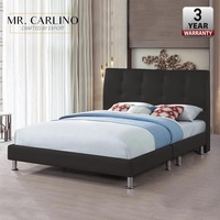 RUBIO Head Button PU Leather Queen Sized Bed Frame/ Katil Queen / Bed Frame Queen