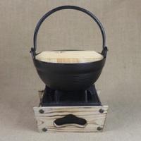 18 Length Cast-iron Japanese Style Cast-iron Pot Japan Pot with Pot Japan Clay Pot Cast-iron Bowl Hanging Pot Handbag Handle Pot Small Hot Pot
