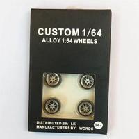 ZJ 1/64 Scale Alloy Wheels Custom  Matchbox Tomy Rubber Tires 颜色:36
