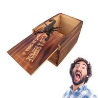 OrzBuy 1 Pcs Wooden Prank Animal Scare Box Surprise Funny Trick Play Joke Lifelike Gag Toys Case Halloween Party Favors