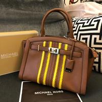 MK 真皮波希米亞側背包 經典棕 新款 手提包 公事包 MICHAEL KORS 現貨 美國代購