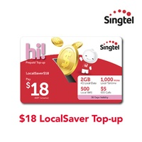 Singtel $18 LocalSaver Top-up
