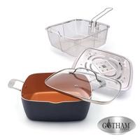 代訂momo購物 6365260歐美熱銷Gotham Steel萬用神廚鍋 鈦金陶瓷多功能雙耳方型不沾鍋具組