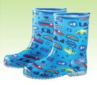 兒童卡通藍彩色雨鞋 耐磨、不易龜裂 Safetylite