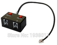 Telephone Training Adapter Y Splitter for Corded Handset with Mute switch RJ9 headset training adapter headset splitter