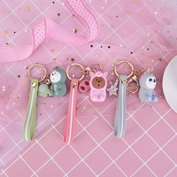 5cm 1pc cute We Bare Bears Key Chain Keychain Cartoon Grizzly Ice Bear Panda