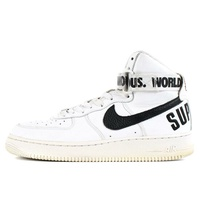 Supreme(shupurimu)14AW×NIKE AIR FORCE 1 HIGH SUPREME SP(698696-100)白US9(27) BEEGLE by Boo-Bee