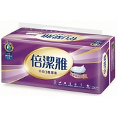 《倍潔雅》特級3層厚柔抽取式衛生紙(110抽10包)