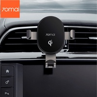 Bracket / xiaomi 70mai 10W QI wireless car fast charger mobile phone holder universal car mobile phone charger bracket with two brackets for Iphone