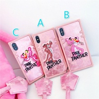 🌷 VIVO V9 Y71 V7Plus Luxury Fashion Cartoon Pink Panther cortex phone Case