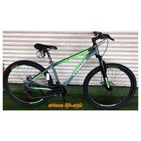 TRINX จักรยานเสือภูเขา  ล้อ 27.5 นิ้ว เกียร์ 21 สปีด เฟรมอลูมิเนียม 18นิ้ว น้ำหนัก15.4กก. (ปี2019) รุ่น M136E-18