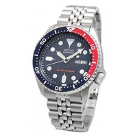 Seiko Automatic Diver Men's Silver Stainless Steel Strap Watch SKX009K2