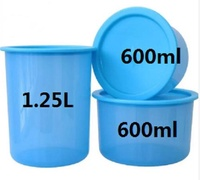 3pcs tupperware one touch container