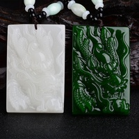 And farmland jade Long Pai mourn to fall to male and farmland jasper Long Pai the Chinese Zodiac Sign chain Long Pai's necklace of sweater dragon - intl
