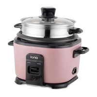IONA GLRC10 STAINLESS STEEL RICE COOKER WITH STEAMER (1L)