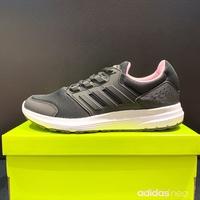 adidas GALAXY 4 女生 黑粉色 輕量 慢跑鞋 F36183