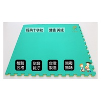 EVA巧拼地墊 100*100*2.5公分 4入/組 黃色x綠色 雙面 十字紋 遊戲地墊 塑膠地墊 SGS檢驗合格 巧拼