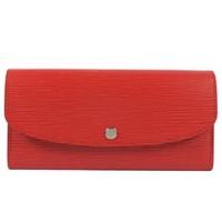 Louis Vuitton LV M60852 EMILIE EPI 雙色皮革壓紋多功能長夾.紅_現貨