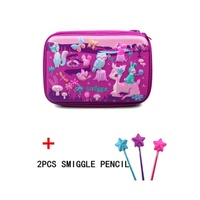 Smiggle Hardtop Pencil Case - purple forest+Surprise gifts