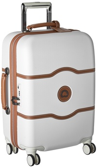 DELSEY Paris Luggage Chatelet Hard+ Carry On Spinner Suitcase Hardcase with Lock, Champagne