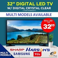 Samsung / Sharp / TCL / Philips 32 inch Digital LED TV or SMART TV * 3 YEARS LOCAL WARRANTY