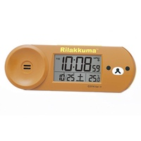 Seiko Clock Alarm Clock Rilakkuma Digital Radio Wave Brown CQ147B SEIKO.