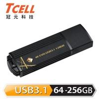 [免運] TCELL 冠元-USB3.1 64G/128G/256G 4K EVO 璀璨黑金隨身碟