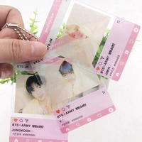 Kpop BTS V JUGKOOK  PVC Photo Card Small Collective Photocard Cards Hanging chain pendant