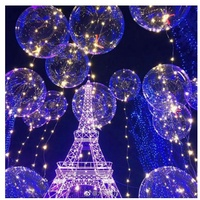 【解憂家】發光透明波波球帶燈led氣球夜市氣球婚宴Party兒童led氦氣球彩燈網紅氣球手持氣球棒禮物節日裝飾