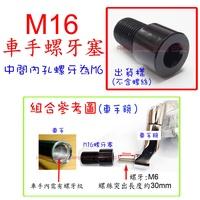 APO~D12-27~M16螺牙塞-內孔M6/車把手鏡/端子鏡/SMAX/MT07/TMAX530/MT09/馬車125
