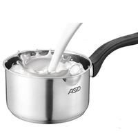 ASD Milk Pot Instant Noodles Pot Stew Pot Small Pot Mini Hot Milk Baby Food Supplement Pot 304 Stainless Steel Electromagnetic Furnace