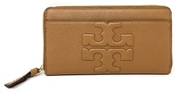 Tory Burch BOMBE-T ZIP CONTINENTAL WALLET (BARK)
