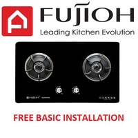 Fujioh FG 2792 SVGL 2 Burner Glass Hob with safety valve
