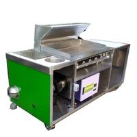 華昌  全新白鐵不銹鋼早餐吧台加靜電抽風組/煎台+抽風煙罩+靜電機+馬達組