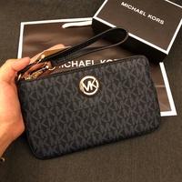 MK 經典logo防刮滿版單層手拿包 經典藍 手拿包 錢包 MICHAEL KORS 現貨 美國代購