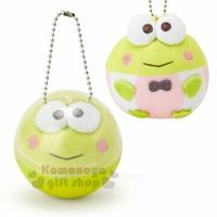 〔小禮堂〕大眼蛙 扭蛋殼絨毛玩偶吊飾《綠》擺飾.掛飾.玩具.舒壓娃娃.果凍泡泡系列