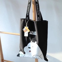Miniso We Bare Bears Tote Bag Shoulder Bag Sling Bag Canvas Bag Handbag