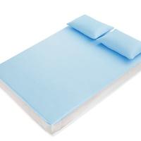 【優作家居】日本熱銷 3D底網高透氣涼感紗軟床墊/涼感紗軟枕墊/涼感紗涼被