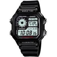 CASIO 雷霆世界武士休閒數位錶(膠帶/灰色) AE-1200WH-1A
