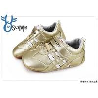 寶寶鞋 真皮鞋墊 {台灣製造}  天鵝CHA CHA TWO學步鞋E3173 金色 OSOME奧森鞋業 零碼出清