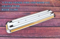 [MAN哥的店]T5 專用 藝術日光燈具 原木質感烤漆 2呎 雙管 燈座 空台 附三段電子IC小夜燈 附T5燈管