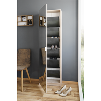 Lina Mirror Tall Shoe Cabinet - White