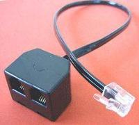 10 PCS  RJ9 Modular Handset Plug to Doubler RJ9 Modular Socket for TWO Headsets Training box headset splitter headset adapter