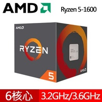 AMD Ryzen 5-1600 R5 1600 3.2GHz 六核心處理器