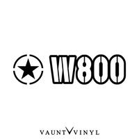 軍事W800粘紙W800 w650 W圍巾電池方向盤kawasaki川崎/sutekkabaikushirudekaru/安全帽後部箱改造/星明星美國的us army僞裝色僞裝戶外/10P07Jan17 VAUNT VINYL sticker store