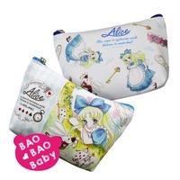 寶貝日雜包🍓日本愛麗絲夢遊仙境少女漫畫風收納包 小物包 化妝包 口紅包 零錢包 Alice 小甜甜漫畫